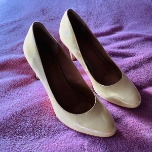 Corso Como patient leather tan heels Size 8